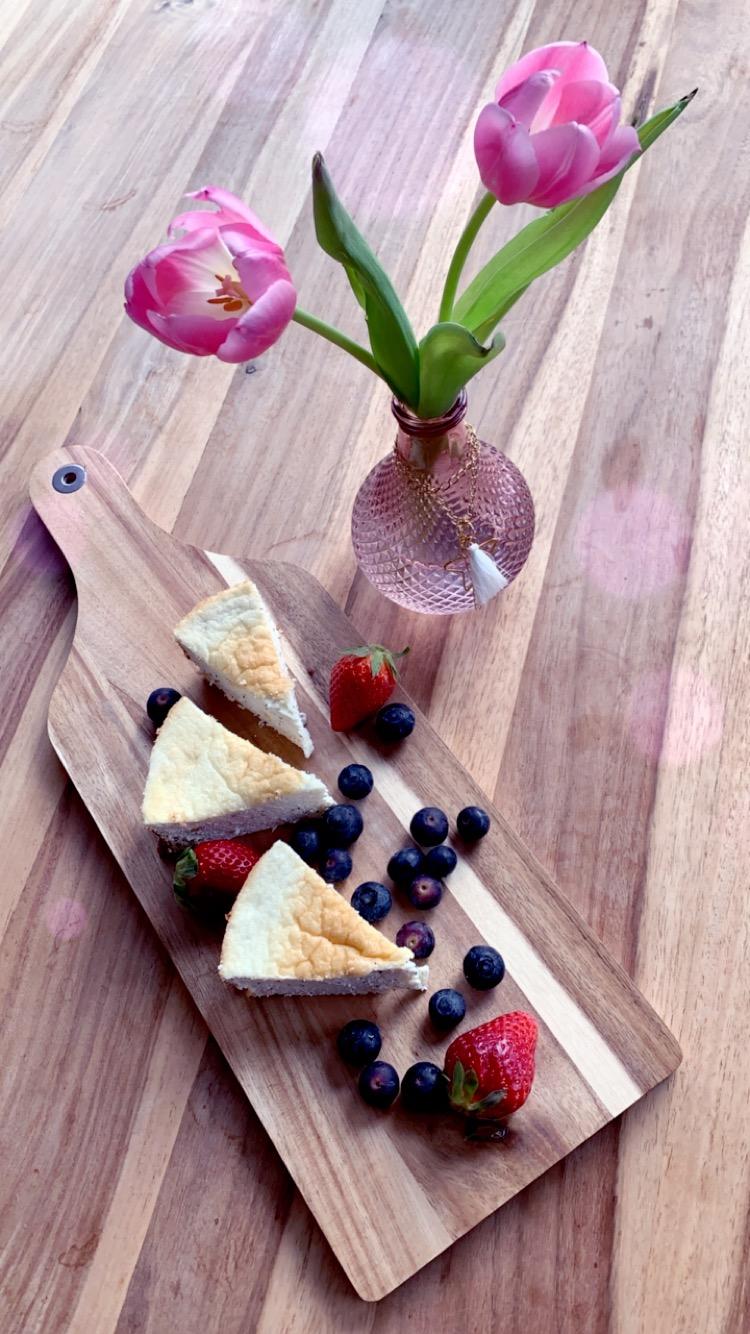 Guten Appetit - Cheesecake Rezept schön angerichtet