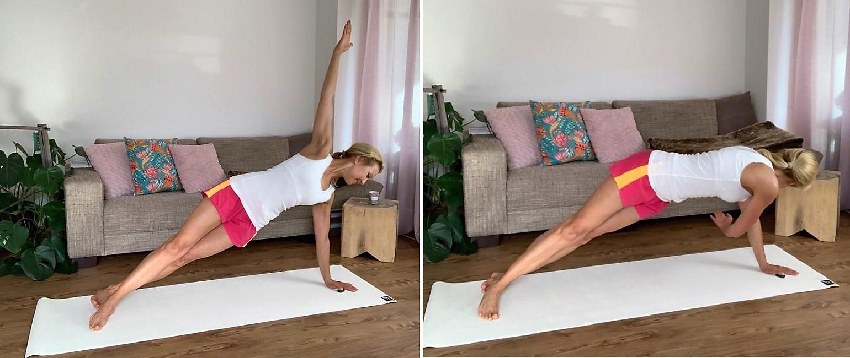 Übungen für einen schönen, straffen Bauch - Übung 2 Seitstütz